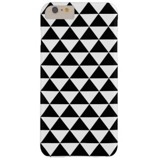 Black and White Triangle Pattern Barely There iPhone 6 Plus Case