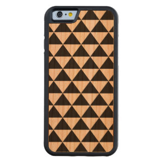 Black and White Triangle Pattern Carved® Cherry iPhone 6 Bumper Case