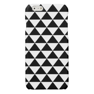 Black and White Triangle Pattern Glossy iPhone 6 Case