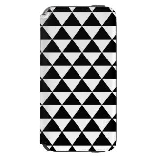 Black and White Triangle Pattern iPhone 6/6s Wallet Case