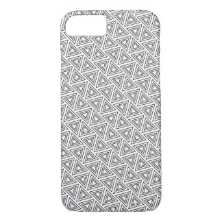 Black And White Triangle Pattern - iPhone 7 Case