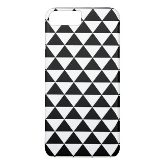 Black and White Triangle Pattern iPhone 7 Plus Case