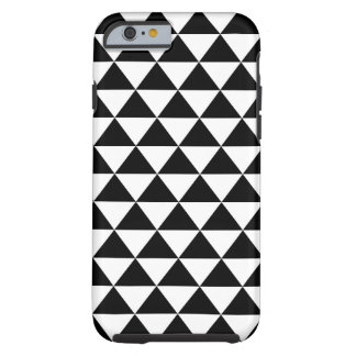Black and White Triangle Pattern Tough iPhone 6 Case