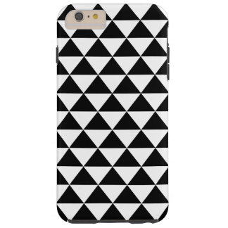 Black and White Triangle Pattern Tough iPhone 6 Plus Case