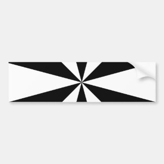Black and white triangles bumper sticker