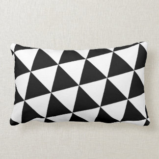 Black and White Triangles Lumbar Pillow