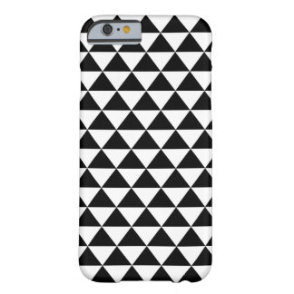 Black and White Triangles Pattern Barely There iPhone 6 Case