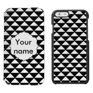 Black and white triangles pattern iPhone 6/6s wallet case