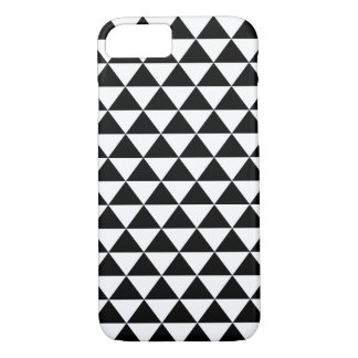 Black and White Triangles Pattern iPhone 7 Case