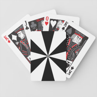 Black and white triangles playing cards