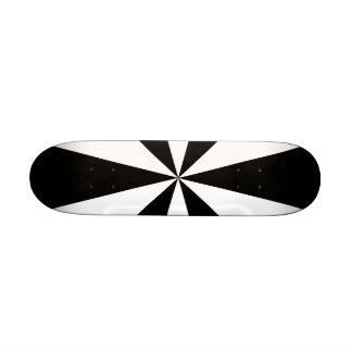 Black and white triangles skateboard