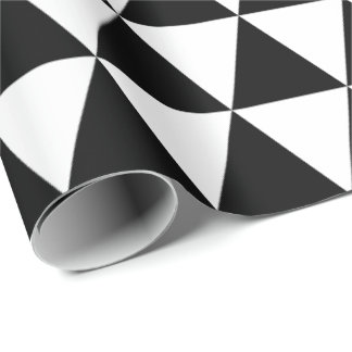 Black and White Triangles Wrapping Paper
