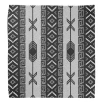 Black And White Tribal Aztec Pattern Bandanna