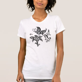 Black and white tribal butterfly tee shirts