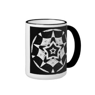Black and White Tribal Mandala Coffee Mug