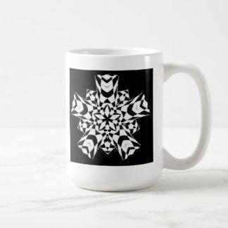 Black and White Tribal Mandala Star Art Coffee Mug