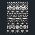 """Black and White Tribal pattern Aztec inspired Hand Towel<br><div class=""""desc"""">Black and White Tribal pattern Aztec inspired.</div>"""