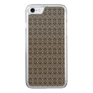 Black and White Tribal Pattern Carved iPhone 8/7 Case