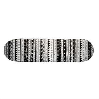 Black and white Tribal pattern Skateboard Deck