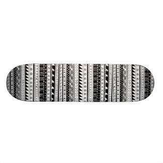 Black and white Tribal pattern Skateboard Deck