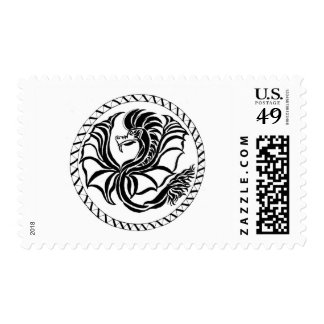 black and white tribal postage