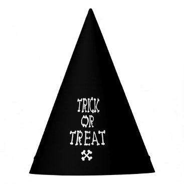 Halloween Themed Black And White Trick Or Treat Party Hat