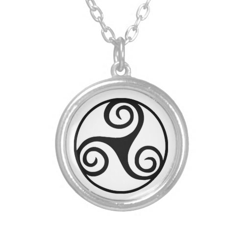 Black and White Triskelion or Triskele