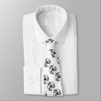 Black and White Triskelion or Triskele Tie