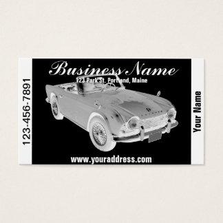 Black And White Triumph Tr4  Sports Car Business Card