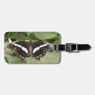 Black and White Tropical Butterfly Custom Bag Tag