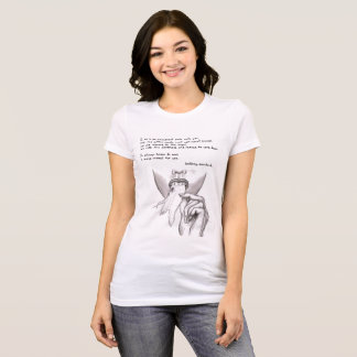 black and white tshirt cotton candy quote and art