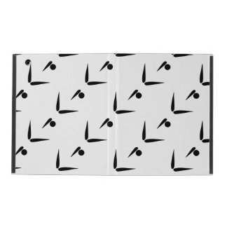 Black and White Tumbler Gymnast Gymnastics Pattern iPad Cases