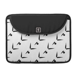 Black and White Tumbler Gymnast Gymnastics Pattern MacBook Pro Sleeves