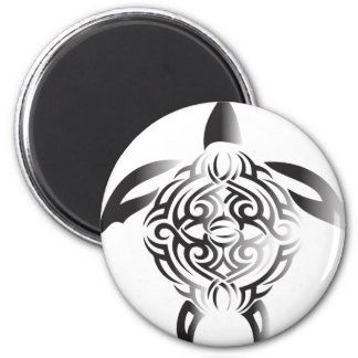 black-and-white-turtle 2 inch round magnet