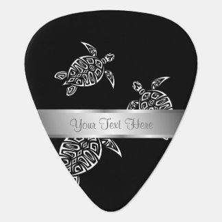 Black And White Turtles Tatoo Animal Guitar Pick