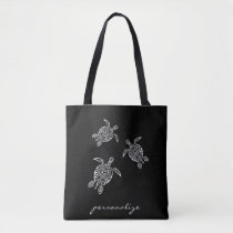 Black And White Turtles Tatoo Animal Tote Bag