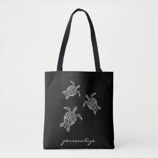 Black And White Turtles Tatoo Animal Tote Bag