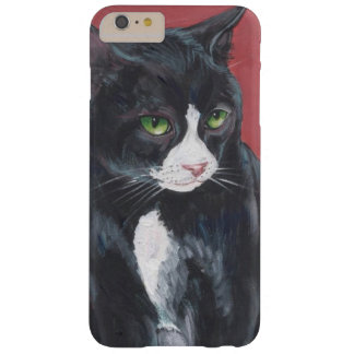 Black and white Tuxedo cat Barely There iPhone 6 Plus Case