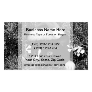 Black and white tuxedo cat christmas hat tinsel bw business cards