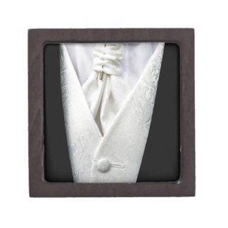 Black and White Tuxedo Collar Gift Box