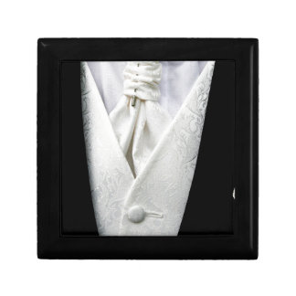 Black and White Tuxedo Collar Keepsake Box