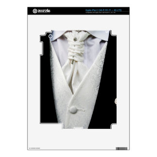 Black and White Tuxedo Collar Skins For iPad 3