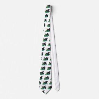 Black and White Tuxedo Kitten Tags his Leprechaun Neck Tie