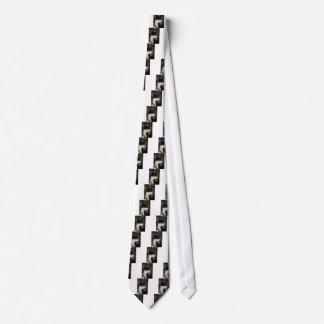 Black and White Tuxedo Kitty Neck Tie