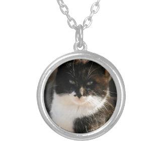 Black and White Tuxedo Kitty Pendants
