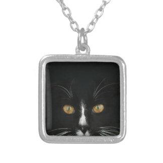 Black and White Tuxedo Kitty With Golden Eyes Custom Jewelry