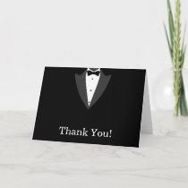 Black and White Tuxedo Thank You