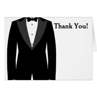 Black and White Tuxedo Thank You Card