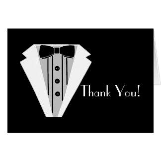 Black and White Tuxedo Thank You Card