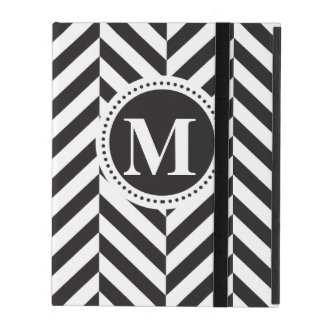 Black and White twill iPad Covers
